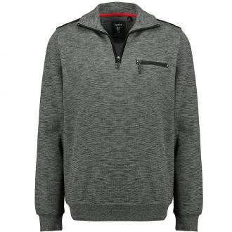 Sweatshirt im Materialmix in stayfresh-Qualität grau_100/30   3XL