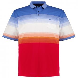 "Gestreiftes Poloshirt ""Stay Fresh"" kurzarm blau_600   3XL"