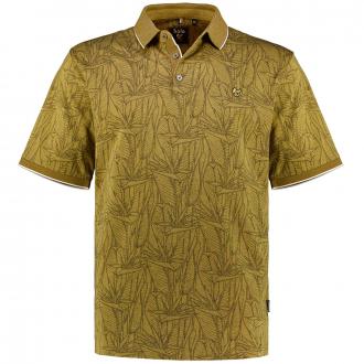 "Poloshirt ""Stay Fresh"" mit Alloverprint, kurzarm mais_332 | 3XL"