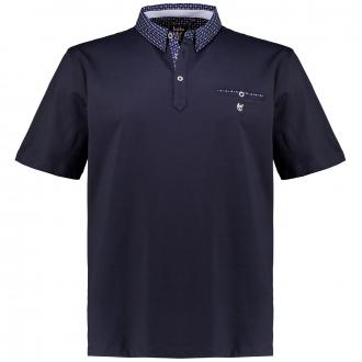 "Poloshirt ""Stay Fresh"" mit Hemdkragen, kurzarm dunkelblau_609   3XL"