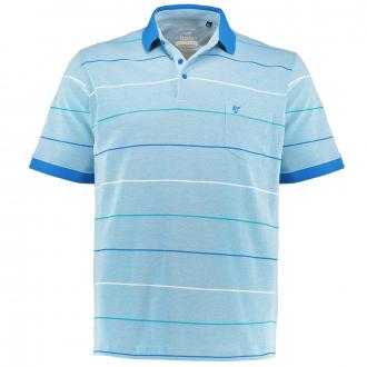 "Strukturiertes Poloshirt ""Stay Fresh"", kurzarm türkis_663 | 3XL"