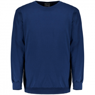 Bequemes Basic Sweatshirt aus weichem Baumwoll-Stretch blau_160 | 3XL