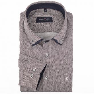 Langarmhemd mit Alloverprint und doppelten Button-Down-Kragen blau/weiß_100/4020   46