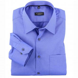 Kombinationsstarkes City-Hemd mit leichter Struktur, langarm mittelblau_160   47
