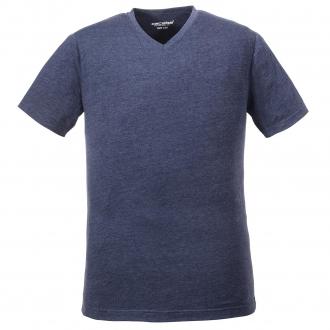 Vielseitig kombinierbares T-Shirt mit V-Ausschnitt blau_8452 | 60/62