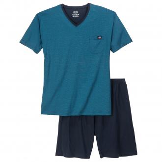 Kurzer Schlafanzug, 2-teilig blau_612   80