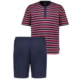 Pyjama mit Henleykragen, kurzarm dunkelblau_632   60/62