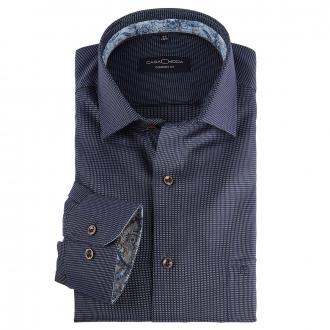 Businesshemd mit Webeffekt, langarm blau_100   46