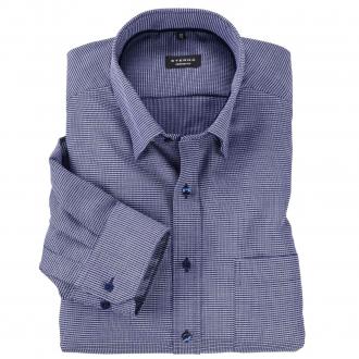 Geschmackvolles City-Hemd mit schickem Allover-Print, langarm dunkelblau_18/1 | 47