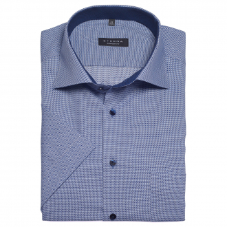 Dezent strukturiertes, bügelfreies Cityhemd, kurzarm blau_16/40   46