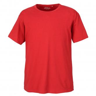 Schlichtes T-Shirt aus Baumwolle rot_3660 | 5XL