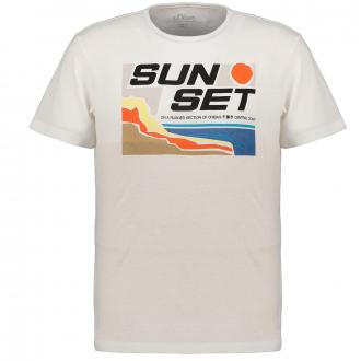 "T-Shirt mit ""Sun-Set""-Print weiß_01A2 | 4XL"