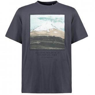 "T-Shirt mit Fotoprint ""Mountain"" anthrazit_9855   5XL"