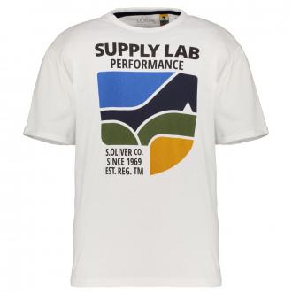 T-Shirt mit Frontprint weiß_0100 | 3XL