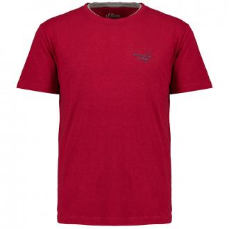 schlichtes T-Shirt, kurzarm weinrot_3870 | 3XL