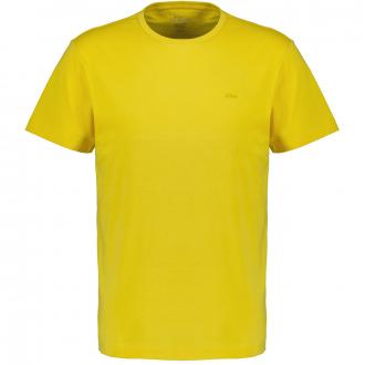 Legeres T-Shirt mit dezentem Logoprint gelb_1470   3XL