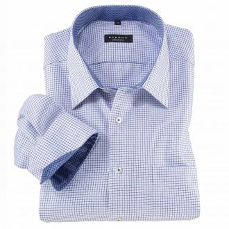 Kariertes Cityhemd mit extra langem Arm, 72 cm blau/weiß_16 | 46L72