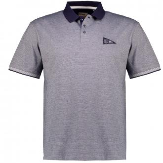 Strukturiertes Poloshirt aus Baumwoll-Jersey, kurzarm marine_711 | 3XL