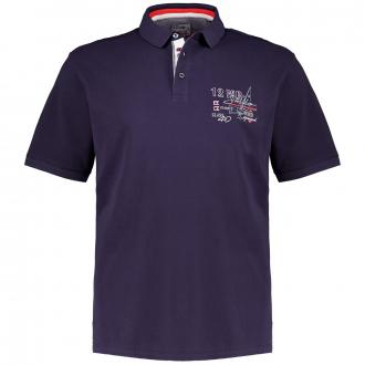 Maritimes Poloshirt aus Baumwoll-Piqué, kurzarm marine_711 | 3XL