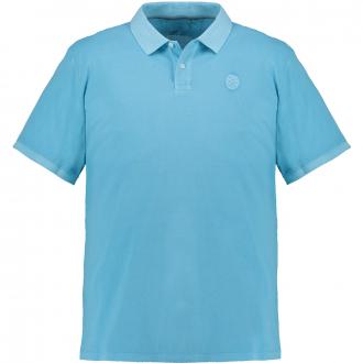 Poloshirt Logopatch auf der Brust türkis_6242 | 3XL