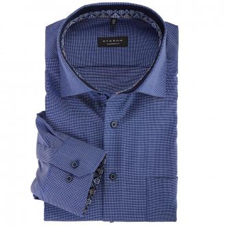 Bügelleichtes Cityhemd mit Struktur, extra langer Arm blau_16/40 | 46