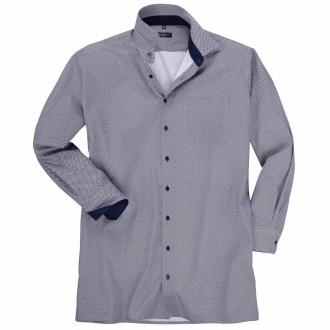 Trendstarkes Freizeithemd mit Kontrastelementen, langarm blau/weiß_190 | 50