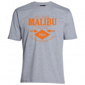 "T-Shirt ""Malibu"" hellgrau_69 | 10XL"