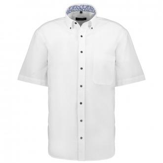 Zeitlos, modernes Seersucker-Freizeithemd, kurzarm weiß_00 | 46