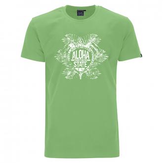 "T-Shirt mit ""ALOHA STATE"" Print grün_46   4XL"