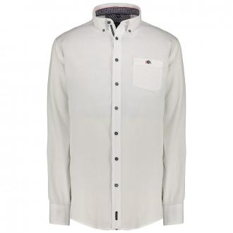 Langarmhemd mit kontrastfarbenen Schließknöpfen weiß/weiß_000 | 3XL