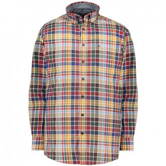 Freizeithemd in modischem Karo-Style blau/rot_400/4050 | XXL