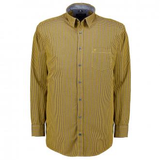 Sportliches Karo-Freizeithemd gelb_500   4XL
