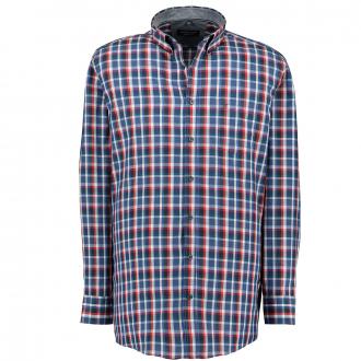Freizeithemd im angesagten Karomuster, Comfort Fit blau_100 | XXL