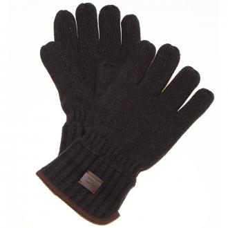 Modischer Strickhandschuh im Materialmix schwarz_09 | One Size
