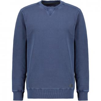 Modisches Rundhals-Sweatshirt dunkelblau_430 | 4XL
