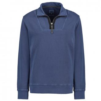 Sportliches Sweatshirt mit Stehkragen blau_43 | 4XL