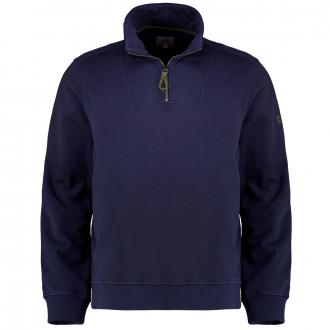Sweatshirt in Garment-Dyed-Look dunkelblau_49   3XL