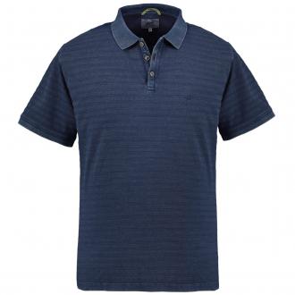 "Poloshirt im ""Used-Look"", kurzarm dunkelblau_19 | 5XL"