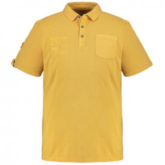 Klassisches Poloshirt mit Brusttasche, kurzarm gelb_62 | 3XL