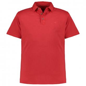 Unifarbenes Poloshirt in Single-Jersey-Qualität, kurzarm rot_40/50 | 5XL