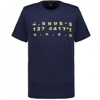 T-Shirt mit numerischem Print dunkelblau_49 | 3XL