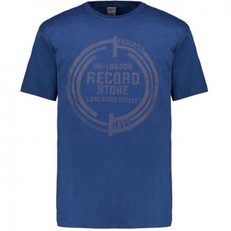 Kurzarm T-Shirt mit Graphik-Print blau_160 | 3XL