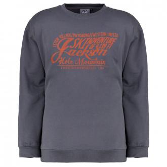"Sweatshirt mit Frontprint ""Ski Adventure"" grau_143 | 6XL"