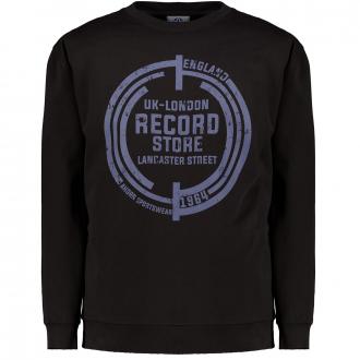 Sweater mit Rundhals-Ausschnitt schwarz_77 | 3XL