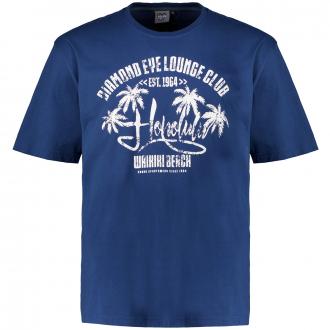 "T-Shirt mit Print ""Honululu"" blau_160   3XL"