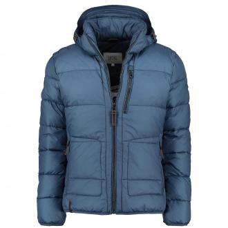 Modische Jacke mit abnehmbarer Kapuze blau_41 | 62