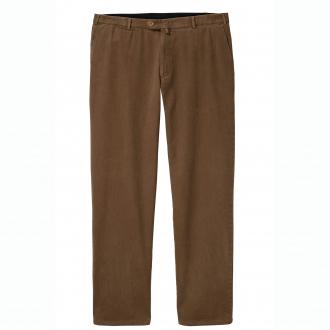 Klassische Baumwollhose mit elastischem Kurzleib-Bund beige_4300 | 62