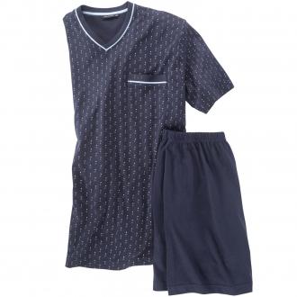 Bequemer Schlafanzug, kurz dunkelblau_8414 | 62