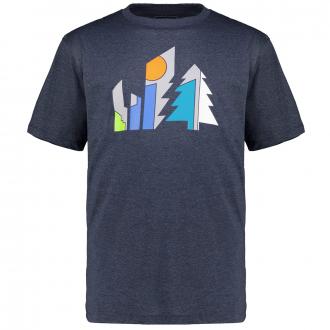 Funktions-Shirt mit plakativem Print dunkelblau_3628   3XL