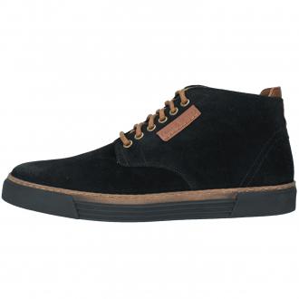Knöchelhoher Sneaker aus Veloursleder schwarz_17/10   43